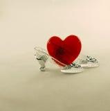 кристаллическая тапочка сердца Стоковые Фото