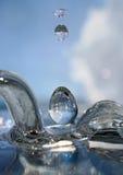 кристаллические падения Стоковое Фото