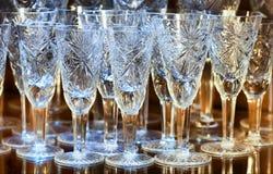 кристаллические стекла стоковая фотография rf