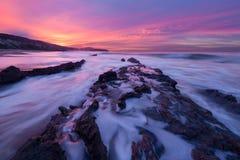 Кристаллический восход солнца бухточки Стоковое Изображение RF