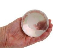 кристаллический глобус Стоковые Изображения RF