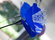 Кристаллический голубой светильник Стоковое Изображение RF