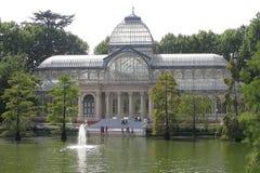 кристаллический дворец madrid стоковая фотография rf