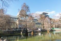 Кристаллический дворец Palacio de cristal в парке Retiro, Мадриде, Испании Стоковое фото RF