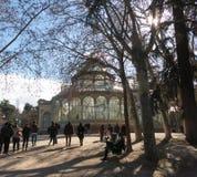 Кристаллический дворец Palacio de cristal в парке Retiro, Мадриде, Испании Стоковая Фотография RF