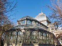 Кристаллический дворец Palacio de cristal в парке Retiro, Мадриде, Испании Стоковое Изображение