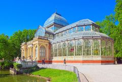 Кристаллический дворец Palacio de Cristal в Buen Парке del Retiro Равенстве Стоковые Изображения RF
