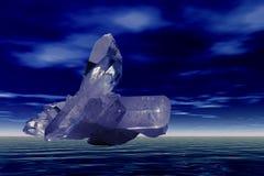 кристаллический кварц летания Стоковая Фотография RF