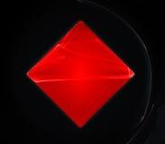 кристаллический красный цвет Стоковое Фото