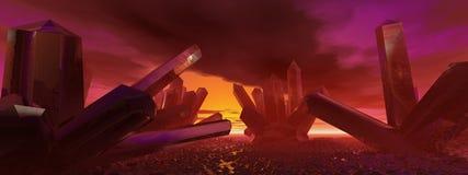 кристаллический ландшафт Стоковые Фотографии RF
