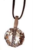 кристаллический макрос ювелирных изделий диаманта Стоковое Изображение RF
