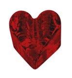 кристаллический текстурированный красный цвет сердца Стоковое Фото