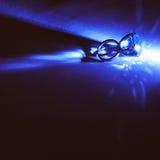 кристаллическое большое кольцо Стоковые Фотографии RF