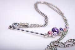 кристаллическое ожерелье Стоковые Фотографии RF