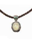 Кристаллическое ожерелье стоковая фотография rf