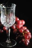 кристаллическое пустое стеклянное вино Стоковые Фото