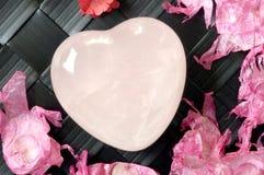 кристаллическое сердце Стоковые Фотографии RF