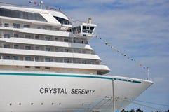 Кристаллическое туристическое судно спокойствия в Майами стоковая фотография