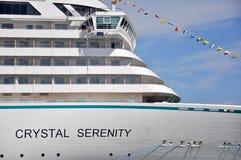 Кристаллическое туристическое судно спокойствия в Майами стоковая фотография rf