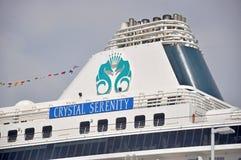 Кристаллическое туристическое судно спокойствия в Майами стоковое изображение rf
