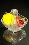 кристалл перчит вазу стоковые фото