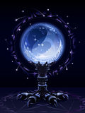 кристалл шарика scrying Стоковое Фото