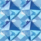 кристалл Безшовная геометрическая предпосылка 3D Стоковая Фотография RF