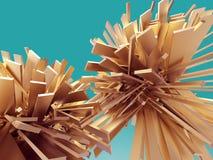 Кристаллическая абстрактная предпосылка Стоковая Фотография