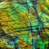 Кристаллическая каменная драгоценная камень лабрадорита Стоковые Фотографии RF