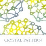 Кристаллическая картина акварели бесплатная иллюстрация