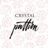 Кристаллическая картина Стоковое Изображение RF