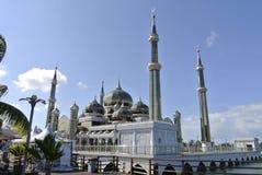 Кристаллическая мечеть в Teregganu, Малайзии стоковые изображения