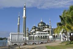 Кристаллическая мечеть в Teregganu, Малайзии стоковое фото rf