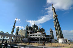 Кристаллическая мечеть в Teregganu, Малайзии Стоковая Фотография