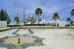 Кристаллическая мечеть или Masjid Kristal в Kuala Terengganu, Terengganu Стоковое Фото