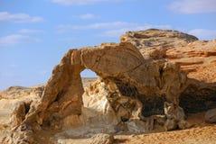 Кристаллическая пустыня, Сахара, Египет Стоковое Изображение RF