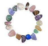 Кристаллическая рамка круга драгоценной камня Стоковое фото RF
