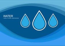 Кристаллическая свежая вода Иллюстрация штока