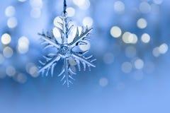 Кристаллическая снежинка Стоковые Фото