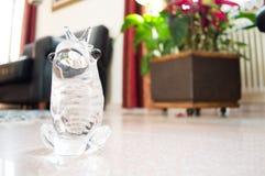 Кристаллическая украшая лягушка Kickknakery Стоковые Изображения