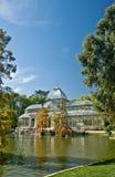 Кристаллический дворец в парке Retiro, Mardid, Испании Стоковые Фотографии RF