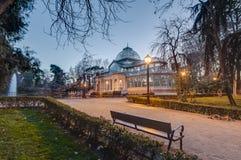 Кристаллический дворец на парке Retiro в Мадриде, Испании Стоковые Фотографии RF