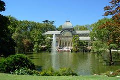 Кристаллический дворец, парк приятного отступления, Мадрид Стоковые Фото