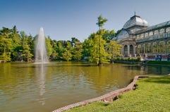Кристаллический дворец, парк Retiro, Мадрид, Испания Стоковые Фотографии RF