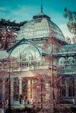 Кристаллический дворец (Palacio de cristal) в парке Retiro, Мадриде, Испании Стоковое Изображение