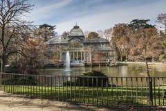 Кристаллический дворец (Palacio de cristal) в парке Retiro, Мадриде, Испании Стоковые Изображения RF