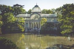 Кристаллический дворец (Palacio de cristal) в парке Retiro, Мадриде, Испании Стоковая Фотография RF