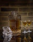Кристаллический графинчик вискиа Стоковое Изображение RF
