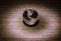 Кристаллический глобус земли Стоковое Фото
