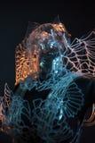Кристаллический дизайн с красочными световыми эффектами, прозрачный p черепа стоковое фото rf
